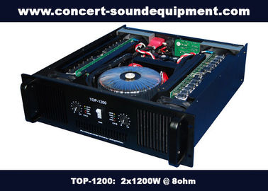 Nightclub Sound Equipment / 2x1200W Class H High Power Analogue Amplifier For Subwoofer , Disco , Concert