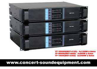 Concert Sound Equipment / 4 Channel 4x1300W Switching Amplifier FP 10000Q With Actual Copper Heat Sink